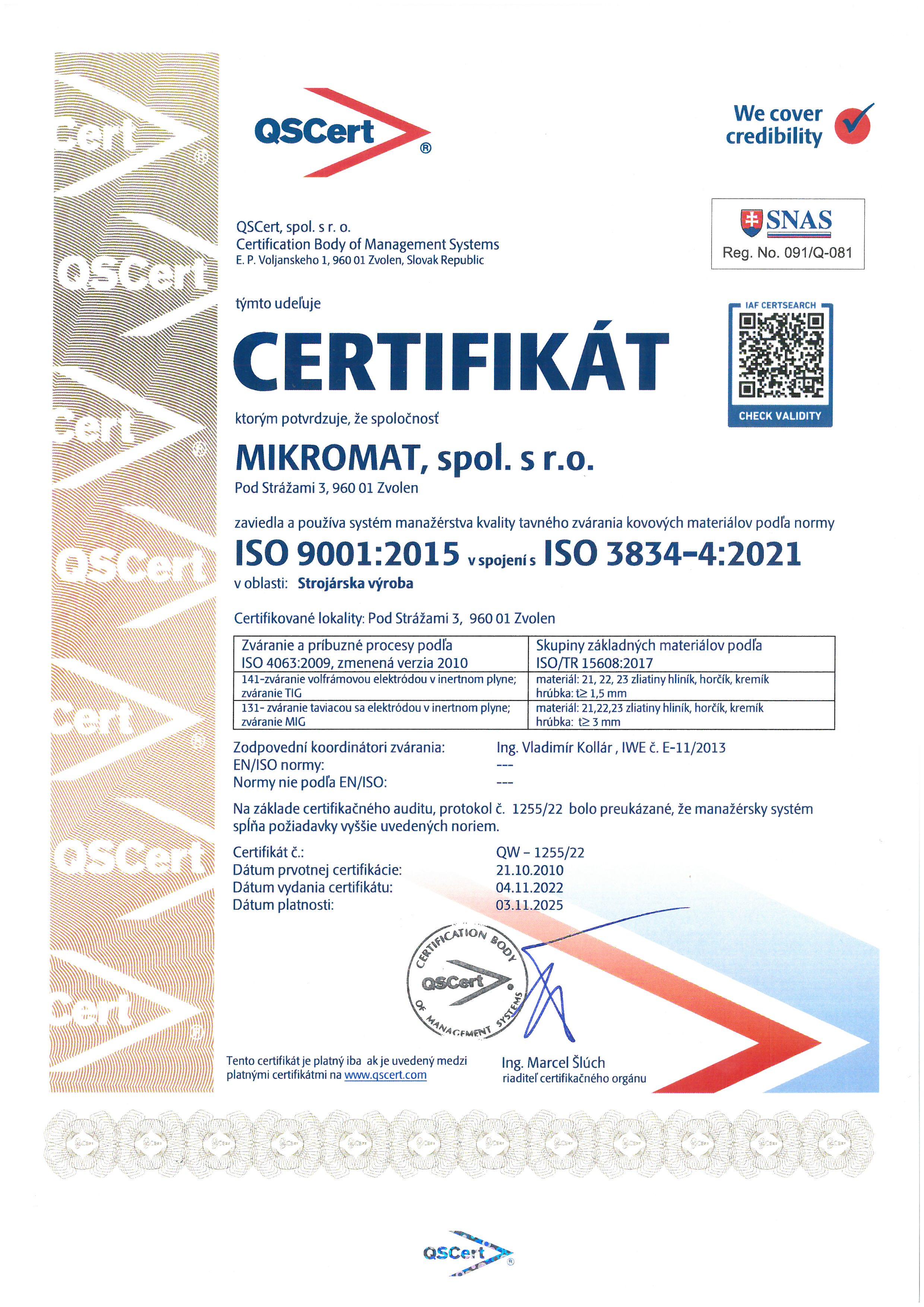 Systém manažérstva kvality Q.M.S 63bf25b3868
